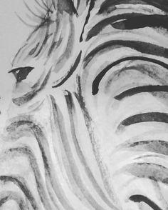Zebra watercolour
