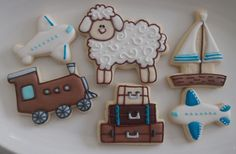 Biscoitos decorados ovelhinha viajante by Vanilla Art Cookies