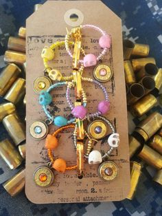 Prefect for holiday parties!   https://www.etsy.com/listing/208550195/brass-bullet-wine-charms-40-caliber