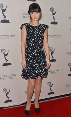Zooey Deschanel wore Dolce & Gabbana at a cocktail reception for the Academy of Television Arts & Sciences in Universal City.