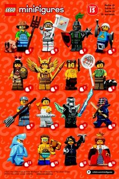 A visual guide and checklist for Lego Blind Pack Minifigure Series' and other sets . From newest to oldest. Lego Film, Legos, Lego Wallpaper, Lego People, Pikachu, Lego Minifigs, Cool Lego Creations, Lego Worlds, Lego Projects
