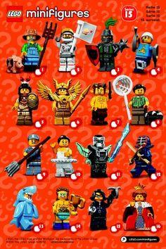 Lego Series 15 Blind Bag Codes Guide Lego Pinterest