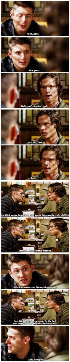 [gifset] 3x11 Mystery Spot #SPN #Dean #Sam My favorite episode of all time. It starts out hilarious then punches you right in the feels.