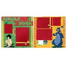 Jungle Book - Premade Scrapbook Page Set by SusansScrapbookShack on Etsy https://www.etsy.com/listing/464014274/jungle-book-premade-scrapbook-page-set