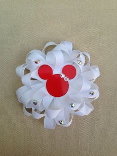 White Hair Bow Loopy White flower bow by ValartCreativeStudio, $7.00