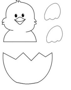 Kostenlose druckbare Easter Egg Chick Malvorlagen - einfache Mutter Projekt - Printable Crafts and Activities - Easter Arts And Crafts, Creative Arts And Crafts, Easter Projects, Spring Crafts, Diy And Crafts, Preschool Art, Craft Activities For Kids, Felt Crafts, Paper Crafts