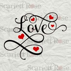 Love Hearts Valentines SVG cutting file clipart in svg jpeg