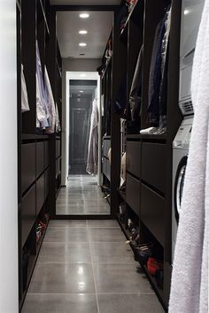 "Walk ""through"" closet.  Like the idea of the washer and dryer being in the same place as the clothing..."