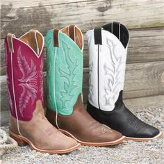square toed boots are a must for any cowgirl. I need the middle pair (  48a70c796