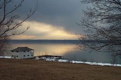 Wells College boathouse on Lake Cayuga in the Finger Lakes