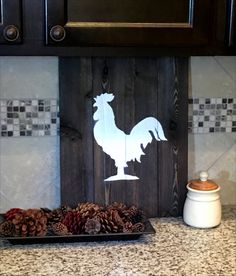 Rooster Kitchen Wall Decor Pallet wood by HillCountryREHASH