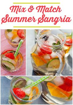 Mix and Match Summer Sangria Recipe for Summer entertaining.
