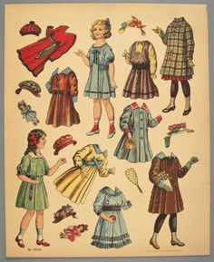 77.5217: paper doll   Paper Dolls   Dolls   National Museum of Play Online Collections   The Strong