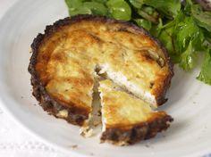 A low calorie, low carb vegetarian 5:2 Diet Recipe - Cauliflower Crust Quiche