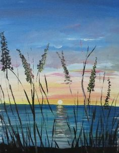 Learn to Paint Morning Sun tonight at Paint Nite! Painting & Drawing, Watercolor Paintings, Beach Paintings, Watercolour, Paint And Sip, Learn To Paint, Beach Art, Pictures To Paint, Painting Inspiration