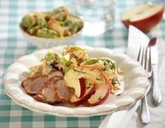 Andebryst opskrift med rosenkål og æbler Lækker middag med and fra Familie Journals Slankeklub