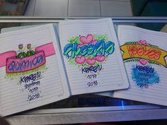 Y sigo marcando... con inspiración de una gran amiga... @benditoamorregalos #letratimoteo #letras #colores #temporadaescolar2018 Diy Notebook Cover For School, Diy And Crafts, Paper Crafts, Decorate Notebook, My Notebook, Zentangle Patterns, Banner, Typography, Bullet Journal