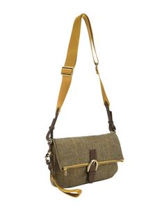 $56 on sale / tweed bag in toad green