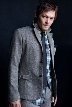 Norman Reedus. Save me from zombies and look sexy in a tie, what more could a girl ask for?