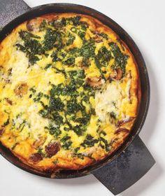 Mushroom, Kale, and Cheddar Frittata