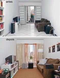 Deixe seu apartamento alugado com cara de reformado - Creative Home, Apartment Decor, Home, Home Renovation, Rented Apartment Decorating, Home Staging, Home Decor, Salas Living Room, Small Apartments