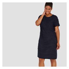 Women+ Short Sleeve Wavy Dress - JF Midnight Blue by Joe Fresh b72deda9b