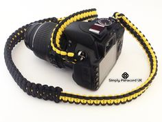 Handmade woven neck strap for SLR cameras or binoculars Paracord Camera Strap, Slr Camera, Archery, Binoculars, Cameras, Handmade, Diy, Bow Arrows, Hand Made