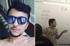 Jovem gay deu bronca em seus colegas de Direito após ser motivo de piadas Em vídeo, Lucas tira satisfação sobre colegas que ridicularizaram fotos suas em grupos de WhatsApp.