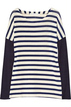 Breton stripes + leather = perfection