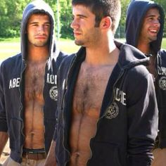 HAIRY Abercrombie guys?  I thought that was just an urban legend!  Fantastic!  God bless 'em for staying away from the razor!!!