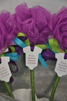 Unique Baby Shower Favor Purple Turquoise and by KristinsWhimsy: