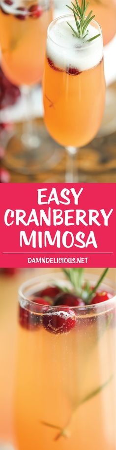 Cranberry Mimosa - T