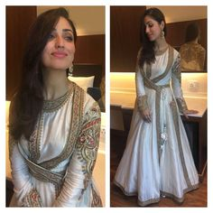 Yami Gautam on Anarkali Dress, Pakistani Dresses, Indian Dresses, Indian Outfits, Lehenga, Saree, Indian Attire, Indian Wear, Look Short