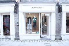 The front of our store, with the virtually sold out Cry Me A River sequin crop top and new menswear brand Thomas Codd London!