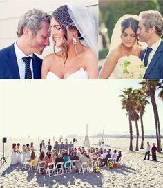 wedding dresses beach ceremony | Do {How To's}: Santa Monica Beach Wedding | WeddingAces
