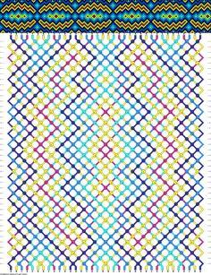 36 strings, 42 rows, 5 colors
