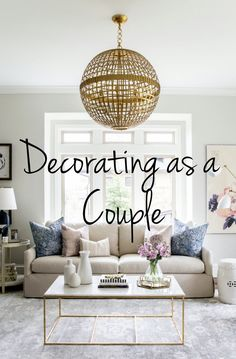 Moving in together is a big step and decorating can be stressful. We have some great ideas on how to combine style and create the home that is right for both of you! #home #decor #homedecor #decorating #newhome #couple #married