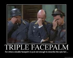 Triple Facepalm - Cupid Comes to Stalag 13 - Because we may not know what Shultz did...but we all know he deserved this.