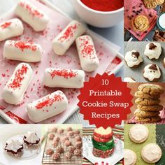 10 Yummy and Festive Cookie Swap Recipes #MobilePrint #sponsored