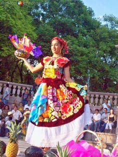 Fotos de Loma Bonita, Oaxaca, México: Guelaguetza en aguascalientes, Traje de Tehuana