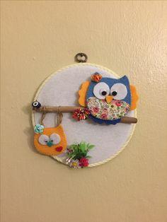 Baykuş, baykuşlu pano, keçe pano, keçe baykuş, owl, hand made, ig:_esencab Fabric Jewelry, Coin Purse, Owl, Purses, Handbags, Owls, Purse, Bags, Coin Purses