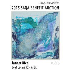 """Leaf Layers #2 - Artic"" by Janett Rice #artquilts #SAQA #benefits #auction #fiberart #textiles #art #quilts #fibreart"