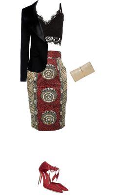 """pencil skirt"" by divacrafts on Polyvore  ~Latest African Fashion, African Prints, African fashion styles, African clothing, Nigerian style, Ghanaian fashion, African women dresses, African Bags, African shoes, Nigerian fashion, Ankara, Kitenge, Aso okè, Kenté, brocade. ~DK"