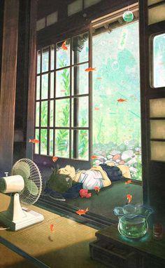 Art Manga, Anime Art Girl, Anime Girls, Pretty Art, Cute Art, Aesthetic Art, Aesthetic Anime, Aesthetic Japan, Aesthetic Black