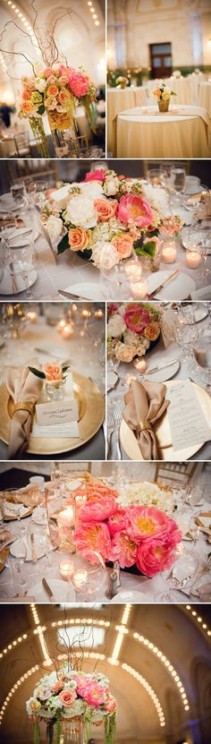 Grand and Romantic Ivory, Champagne, Gold and Peach Wedding at Seattle's Union Station - Junebug's Wedding Blog - Celebrating the Best in Wedding Style, Fashion, Photography and Decor