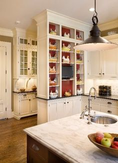 K-11..Painted mahogany kitchen & pantry cabinetry