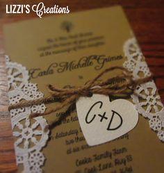 DIY Rustic Wedding Invitations and Programs