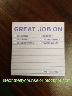 Staff Morale Boosters Life on the Fly.... A School Counselor Blog: New and Shiny