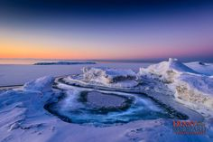 """Ice Volcanoes in Presqu'ile Provincial Park. The ice volcanoes range from 3-feet high, to as large as a house in some areas, and as the waves encroach, the volcanoes will """"erupt"""" with water. #bayofquinte"""