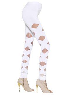 NEW BALMAIN RUNWAY SEXY WHITE PANTS US 4 #Balmain #SlimSkinny